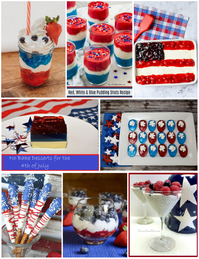 No Bake Desserts for the 4th of July