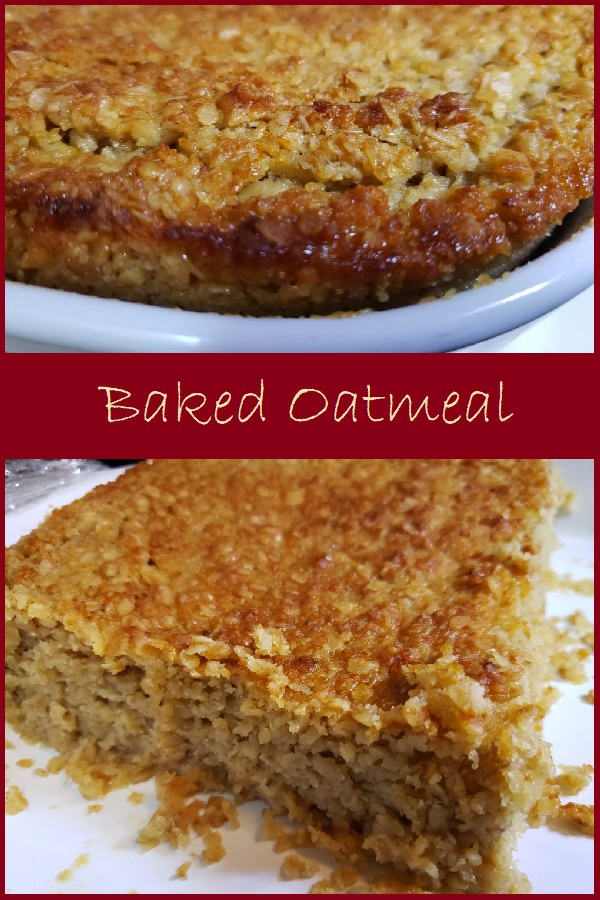 Baked Oatmeal is a delicious  and frugal breakfast.  This recipe serves 8 for under $2.00.