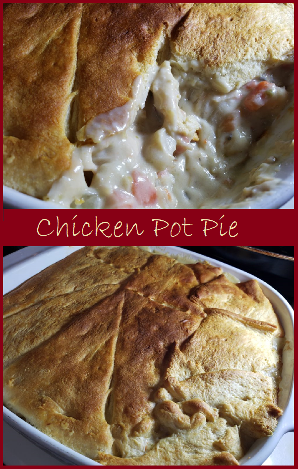 Chicken Pot Pie--a delicious pot pie that's made mostly from canned ingredients.