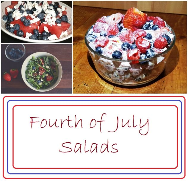 Three Salads for 4th of July