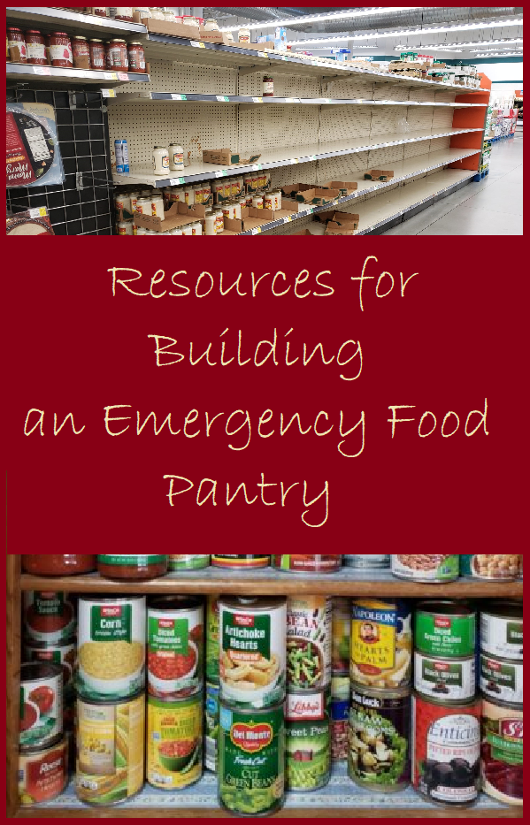 Resources for Building an Emergency Food Pantry